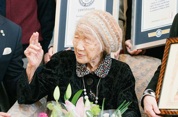 Oldest person Kane Tanaka