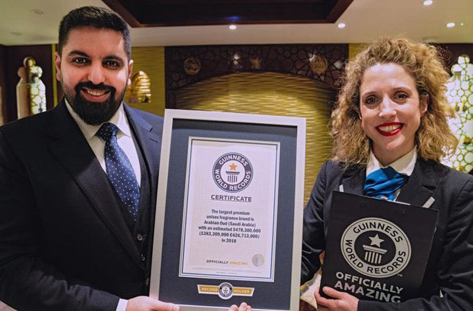 Arabian-Oud-with-the-Guinness-World-Records-certificate
