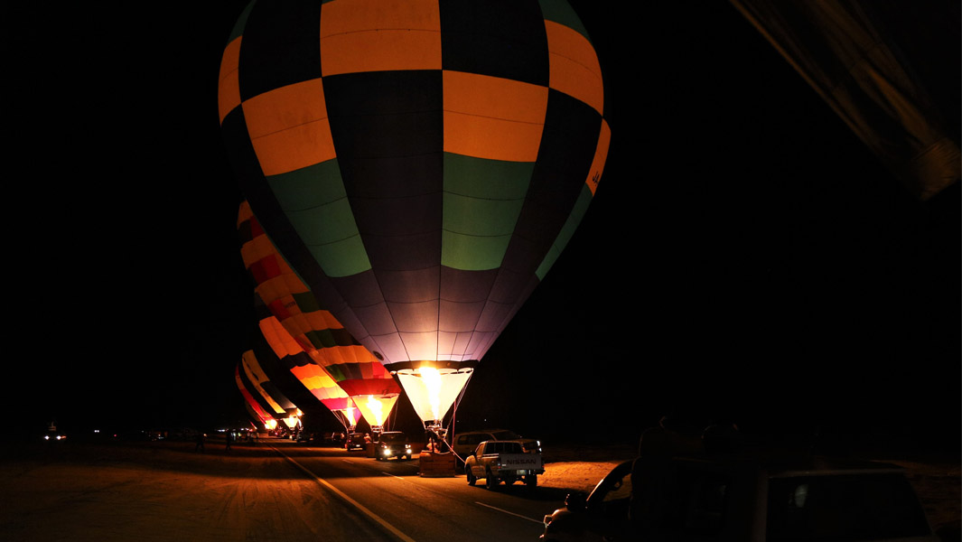 the longest hot air balloon glow show in AlUla in Saudi Arabia