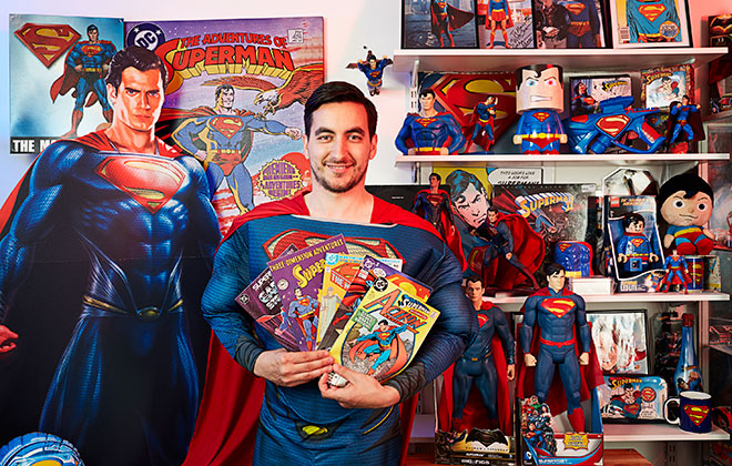 Largest collection of Superman memorabilia